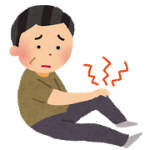腰と膝が痛い患者さん。